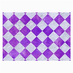 Square2 White Marble & Purple Watercolor Large Glasses Cloth by trendistuff