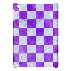 Square1 White Marble & Purple Watercolor Apple Ipad Mini Hardshell Case by trendistuff