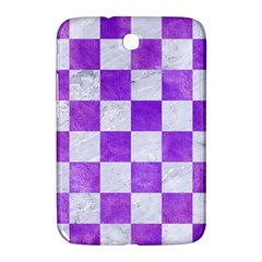 Square1 White Marble & Purple Watercolor Samsung Galaxy Note 8 0 N5100 Hardshell Case  by trendistuff