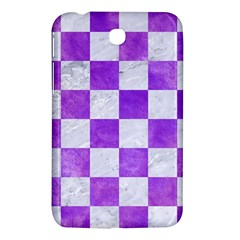 Square1 White Marble & Purple Watercolor Samsung Galaxy Tab 3 (7 ) P3200 Hardshell Case  by trendistuff
