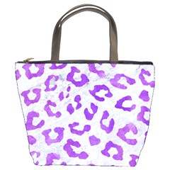 Skin5 White Marble & Purple Watercolor Bucket Bags by trendistuff