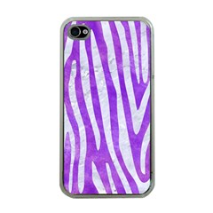 Skin4 White Marble & Purple Watercolor (r) Apple Iphone 4 Case (clear)
