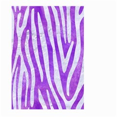 Skin4 White Marble & Purple Watercolor (r) Large Garden Flag (two Sides) by trendistuff