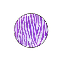 Skin4 White Marble & Purple Watercolor Hat Clip Ball Marker (10 Pack) by trendistuff