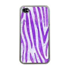 Skin4 White Marble & Purple Watercolor Apple Iphone 4 Case (clear)