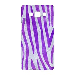 Skin4 White Marble & Purple Watercolor Samsung Galaxy A5 Hardshell Case  by trendistuff