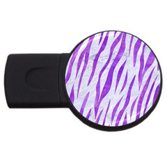 Skin3 White Marble & Purple Watercolor (r) Usb Flash Drive Round (4 Gb) by trendistuff