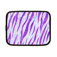 Skin3 White Marble & Purple Watercolor (r) Netbook Case (small)  by trendistuff