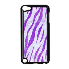 Skin3 White Marble & Purple Watercolor (r) Apple Ipod Touch 5 Case (black) by trendistuff