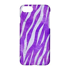 Skin3 White Marble & Purple Watercolor Apple Iphone 8 Hardshell Case