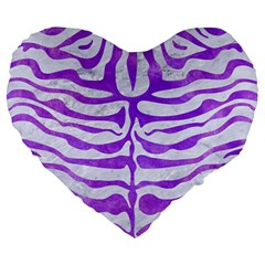 Skin2 White Marble & Purple Watercolor (r) Large 19  Premium Heart Shape Cushions by trendistuff