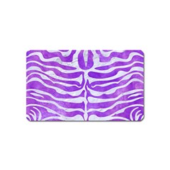 Skin2 White Marble & Purple Watercolor Magnet (name Card) by trendistuff
