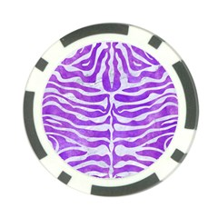 Skin2 White Marble & Purple Watercolor Poker Chip Card Guard by trendistuff
