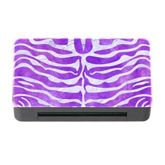 Skin2 White Marble & Purple Watercolor Memory Card Reader With Cf by trendistuff