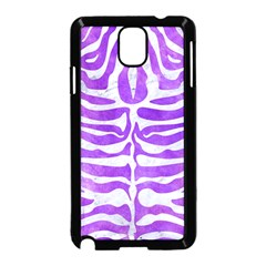 Skin2 White Marble & Purple Watercolor Samsung Galaxy Note 3 Neo Hardshell Case (black) by trendistuff