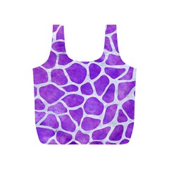 Skin1 White Marble & Purple Watercolor (r) Full Print Recycle Bags (s)  by trendistuff