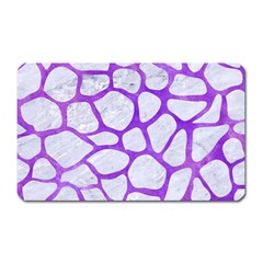 Skin1 White Marble & Purple Watercolor Magnet (rectangular) by trendistuff