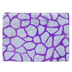 Skin1 White Marble & Purple Watercolor Cosmetic Bag (xxl)  by trendistuff
