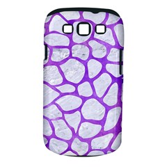 Skin1 White Marble & Purple Watercolor Samsung Galaxy S Iii Classic Hardshell Case (pc+silicone) by trendistuff