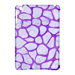 Skin1 White Marble & Purple Watercolor Apple Ipad Mini Hardshell Case (compatible With Smart Cover) by trendistuff