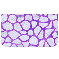 Skin1 White Marble & Purple Watercolor Lunch Bag