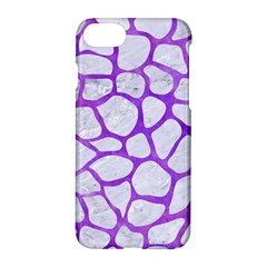 Skin1 White Marble & Purple Watercolor Apple Iphone 8 Hardshell Case by trendistuff