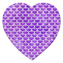 Scales3 White Marble & Purple Watercolor Jigsaw Puzzle (heart) by trendistuff