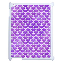 Scales3 White Marble & Purple Watercolor Apple Ipad 2 Case (white) by trendistuff