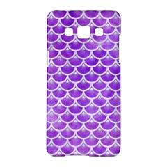 Scales3 White Marble & Purple Watercolor Samsung Galaxy A5 Hardshell Case  by trendistuff