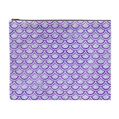 Scales2 White Marble & Purple Watercolor (r) Cosmetic Bag (xl) by trendistuff