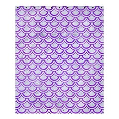 Scales2 White Marble & Purple Watercolor (r) Shower Curtain 60  X 72  (medium)  by trendistuff