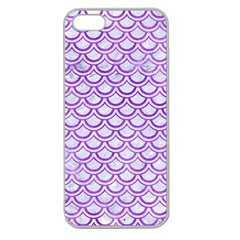 Scales2 White Marble & Purple Watercolor (r) Apple Seamless Iphone 5 Case (clear) by trendistuff