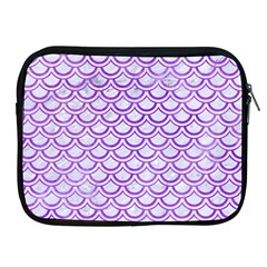 Scales2 White Marble & Purple Watercolor (r) Apple Ipad 2/3/4 Zipper Cases by trendistuff