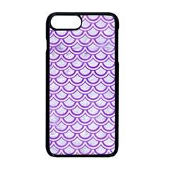 Scales2 White Marble & Purple Watercolor (r) Apple Iphone 8 Plus Seamless Case (black)