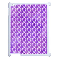 Scales2 White Marble & Purple Watercolor Apple Ipad 2 Case (white) by trendistuff