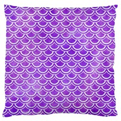 Scales2 White Marble & Purple Watercolor Standard Flano Cushion Case (two Sides) by trendistuff