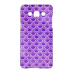 Scales2 White Marble & Purple Watercolor Samsung Galaxy A5 Hardshell Case  by trendistuff