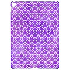 Scales2 White Marble & Purple Watercolor Apple Ipad Pro 12 9   Hardshell Case by trendistuff