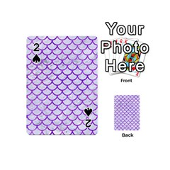 Scales1 White Marble & Purple Watercolor (r) Playing Cards 54 (mini)  by trendistuff