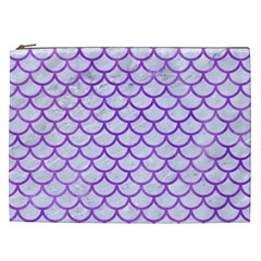 Scales1 White Marble & Purple Watercolor (r) Cosmetic Bag (xxl)  by trendistuff