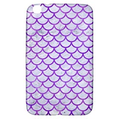 Scales1 White Marble & Purple Watercolor (r) Samsung Galaxy Tab 3 (8 ) T3100 Hardshell Case  by trendistuff