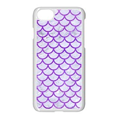 Scales1 White Marble & Purple Watercolor (r) Apple Iphone 8 Seamless Case (white)