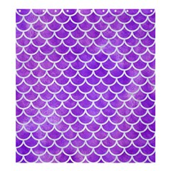 Scales1 White Marble & Purple Watercolor Shower Curtain 66  X 72  (large)  by trendistuff