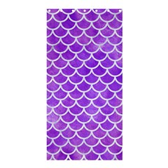 Scales1 White Marble & Purple Watercolor Shower Curtain 36  X 72  (stall)  by trendistuff