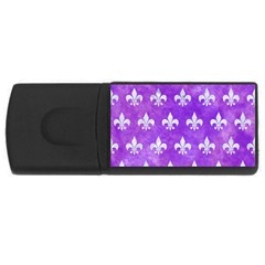 Royal1 White Marble & Purple Watercolor (r) Rectangular Usb Flash Drive by trendistuff