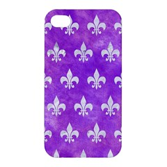 Royal1 White Marble & Purple Watercolor (r) Apple Iphone 4/4s Hardshell Case by trendistuff