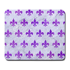 Royal1 White Marble & Purple Watercolor Large Mousepads by trendistuff