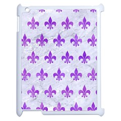 Royal1 White Marble & Purple Watercolor Apple Ipad 2 Case (white) by trendistuff