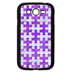 Puzzle1 White Marble & Purple Watercolor Samsung Galaxy Grand Duos I9082 Case (black) by trendistuff