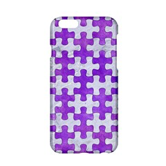 Puzzle1 White Marble & Purple Watercolor Apple Iphone 6/6s Hardshell Case by trendistuff